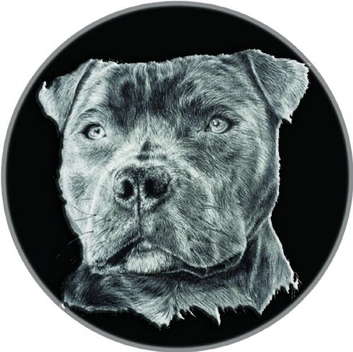 STAFFY DOG 4x4 Spare Wheel Cover DECAL STICKER